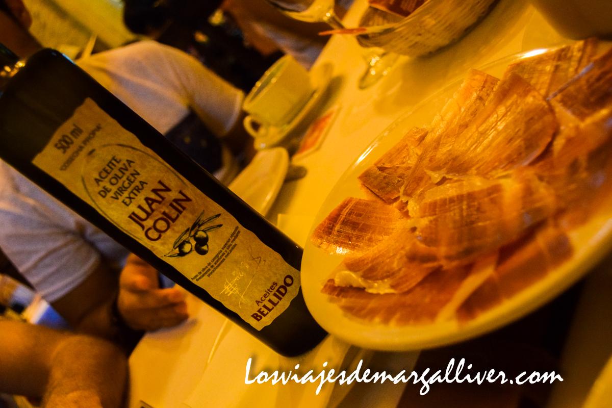 Desayuno típico molinero - Juan Colín en Montilla , Los viajes de Margalliver